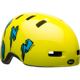 Bell Lil Ripper Helmet Kinder hi-viz/blue bolt